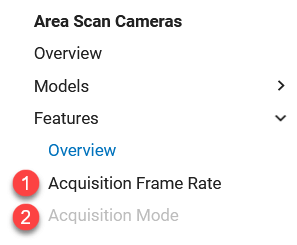 Camera Features Availability